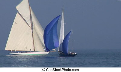 old sail 08 - Old sailing boat in Mediterranean Sea during a...
