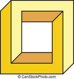 Impossible square. Is a optical effect