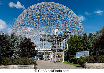 Montreal Biosphere, Canada - Montreal Biosphere on a sunny...