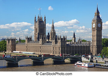 Big Ben and the House of Parliament in London, UK