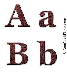 leather alphabet - Leather alphabet. Texture is taken from...