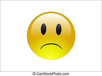 Aqua Emoticons - Sad 1 - An unhappy emoticon