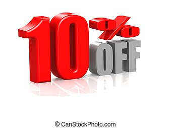 10 percent off - Rendered artwork with white background