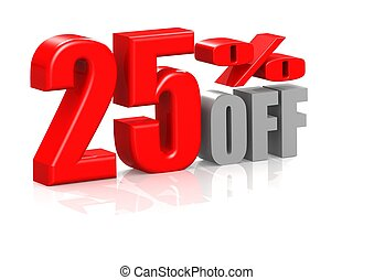 25 percent off - Rendered artwork with white background