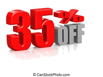 35 percent off - Rendered artwork with white background