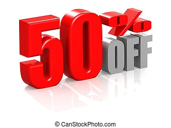 50 percent off - Rendered artwork with white background