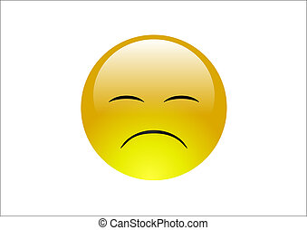 Aqua Emoticons - Sad 2 - An unhappy emoticon