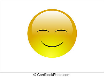 Aqua Emoticons - Smile 2 - A very happy emoticon