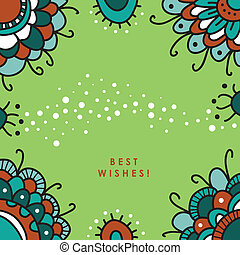 Best Wishes! - Retro floral background