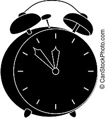 Alarm clock, black silhouette