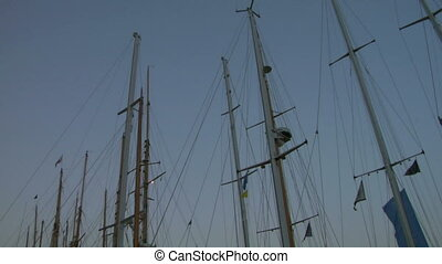 old sail mast 01 - Mast of old sailing ship
