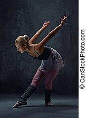 atraente, modernos, balé, dançarino