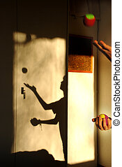 juggling shadow