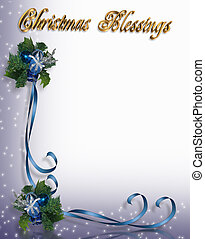 Christmas Blessing Border - Illustration composition for...