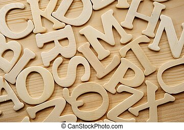 English alphabet background