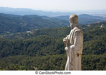 Beautiful view from Tibidabo hill, Spain