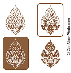 Vector artistic of traditional line thai - Artistic of...