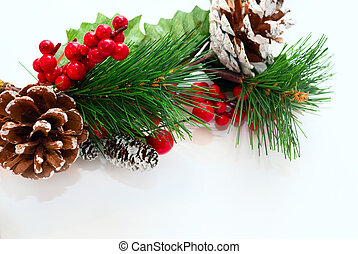 christmas wreath - christmas decoration wreath isolated on...