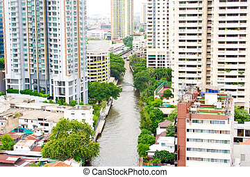 Khlong Thailand. - Khlong Bangkok is in the heart of the...