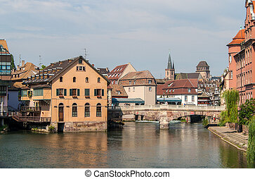 View of Strasbourg city center France