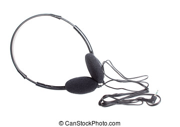 stereo headphone isolated on white background