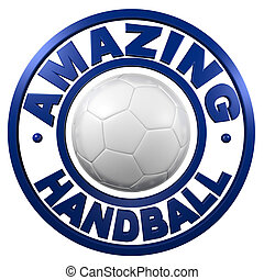 Amazing Handball circular design with a white background