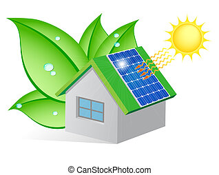 EcoCasa - Ecological house with a solar panel on the roof...