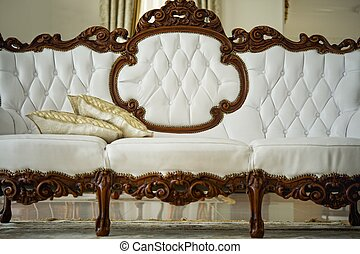 Luxury vintage white sofa