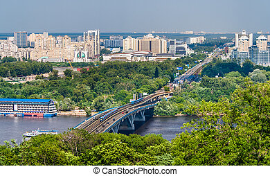 View of Left Bank of Dnieper in Kiev, Ukraine