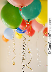 Group of party balloons - Group of coloured party balloons...