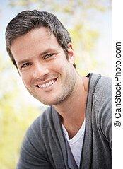 Handsome man smiling portrait