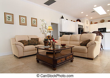family room - Overview of a beautiful classic family room in...