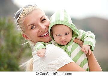 幸せ, 母, 彼女, 子供