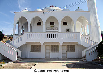 Mosque in Kaplica - New white mosque in Kaplica in North...