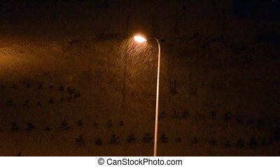Street light pole winter