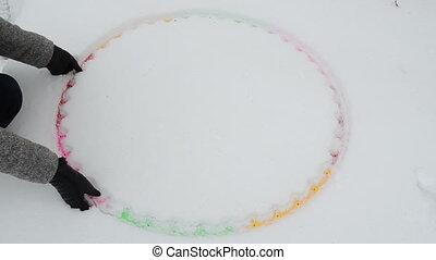 Hand sport hoop waist
