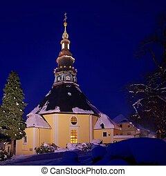 Seiffen church in winter 03