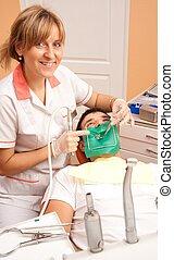 Man at the dentist.