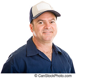 Average Blue Collar Guy - Portrait of an average, typical...