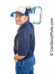 Water Carrier - Handsome, friendly water delivery man...