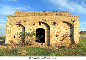 Old church - Old greek church on the coast of North Cyprus,
