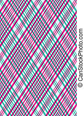 Seamless lines pattern on the back of the card