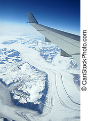 Greenland as seen from the sky