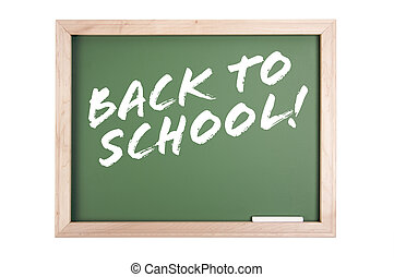 Back to School Chalkboard Isolated on a White Background.