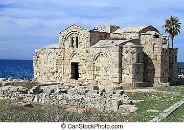 Ayios Philion church - Ruins of Ayios Philion church near...