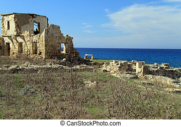 Ruins and sea - Ruins on the sea coast near Ayios Philion...