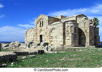Ruins of Ayios Philion church near Dipkarpas, North Cyprus