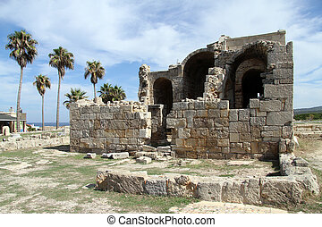 Ruins of church - Ruins of Ayios Philion church in North...