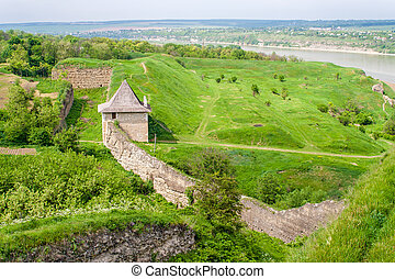Curtain wall at Khotyn fortress, Ukraine