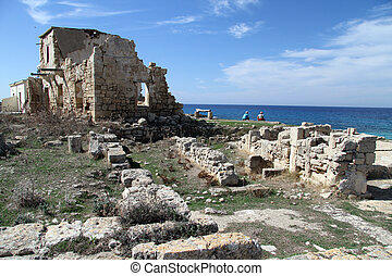 Ayios Philion - Ruins of church Ayios Philion near...